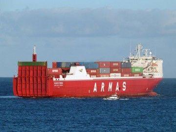 """El buque """"Volcán de Teneguía"""" sufrió un incendio el pasado 2 de agosto"""