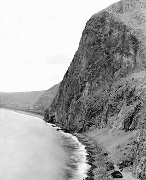 Así era el Risco de la Concepción antes de la llegada de la carretera y el primer túnel