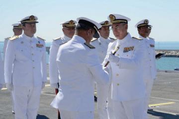 El AJEMA López Calderón entrega el bastón de mando al nuevo ALFLOT