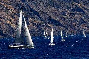 La flotilla salió esta mañana del puerto de Santa Cruz de La Palma