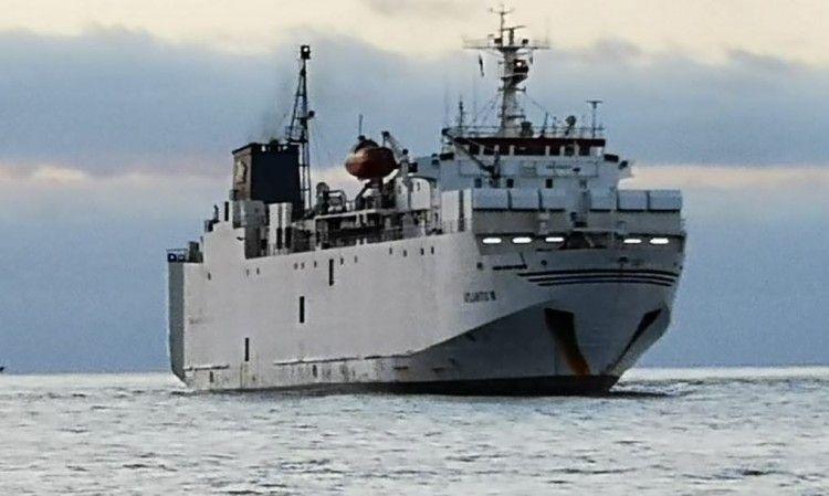 """El buque establo """"Atlantic M"""", a su llegada al puerto de Santa Cruz de Tenerife"""