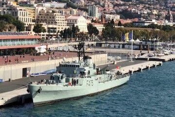 """La corbeta """"Jacinto Cándido"""", atracada hoy en el puerto de Funchal"""