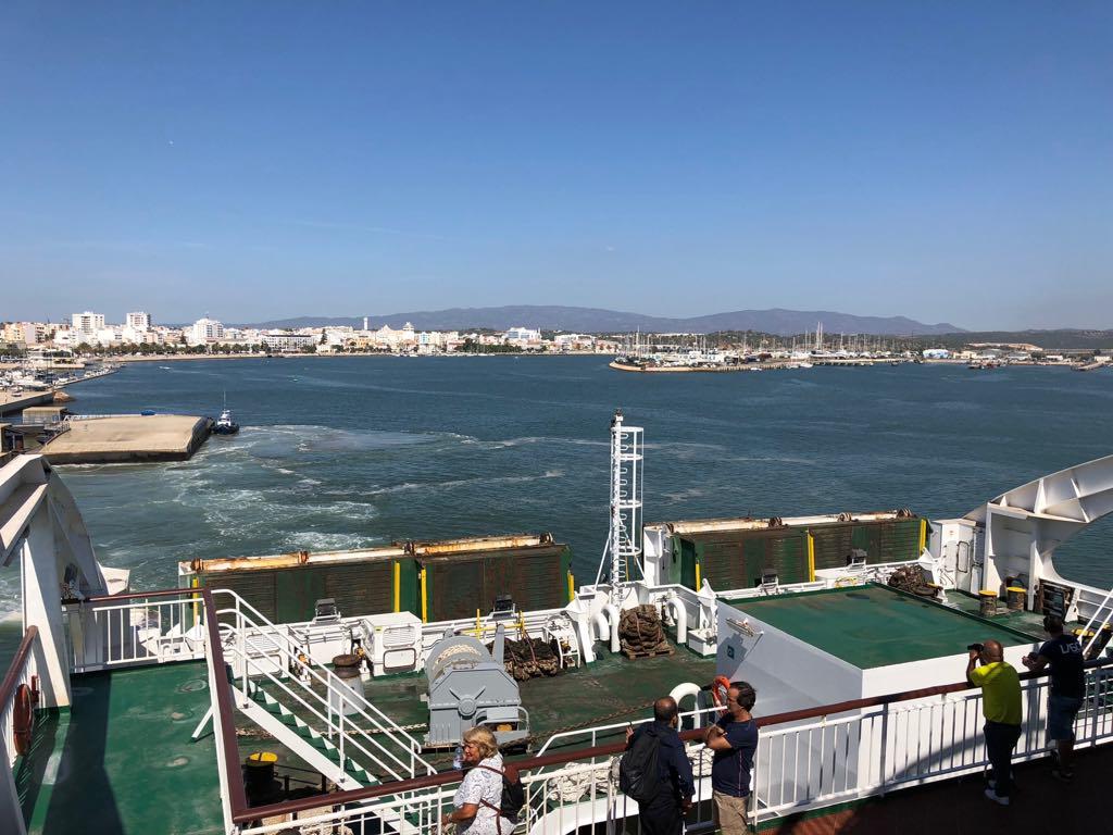 """El ferry """"Volcán de Tijarafe"""" se despide de Portimao"""