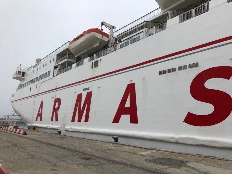 """El buque """"Volcán de Tamasite"""" ha operado en la OPE 2018 con base en Motril"""