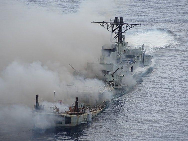 """Las cargas explosivas ayudaron al hundimiento de la corbeta """"Alfonso Cerqueira"""""""