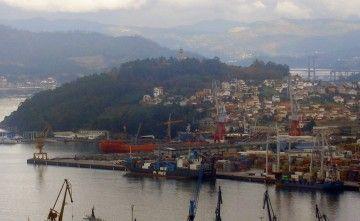 El astillero Factorías Vulcano, Vigo, se encuentra en el barrio de Teis