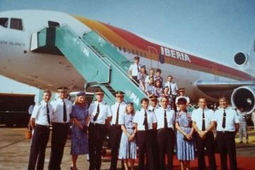 Tripulación del viaje de Iberia a Tailandia y Nepal (noviembre de 1987)