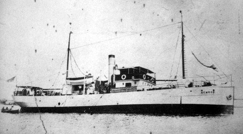 """En su etapa en el vapor """"Nemrod"""" transportaba cargas de dinamita"""