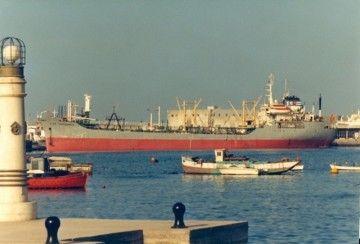 """El petrolero """"Las Guásimas"""", atracado en el puerto de Las Palmas de Gran Canaria"""