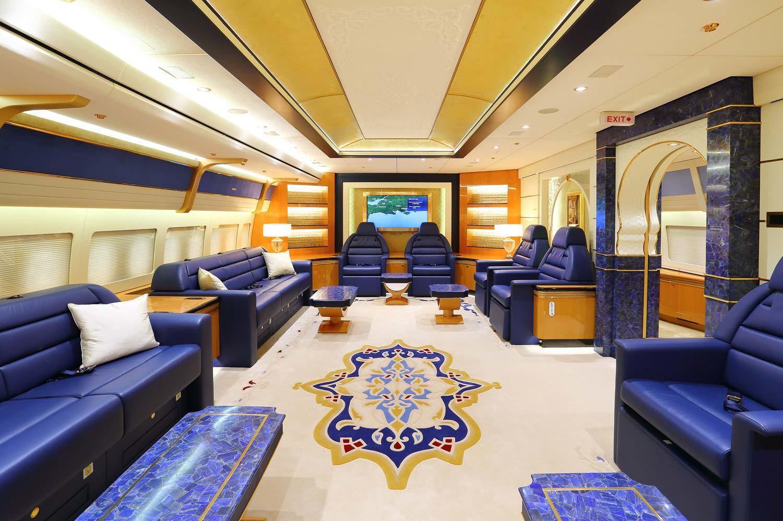 Salón real del B-747 VIP qatarí