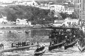 Llegada de la agrupación naval al puerto de Santa Cruz de La Palma
