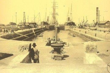 El dique de carenas de Matagorda, en una foto de 1913