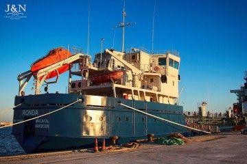 """El petrolero """"Ronda"""" se encuentra atracado en el puerto de Algeciras"""