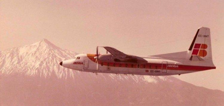 El avión Fokker F-27 está envuelto en una leyenda de prestigio durante su permanencia en Canarias