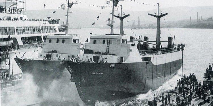 Las botaduras de los buques molones de DFDS se hicieron simultáneamente