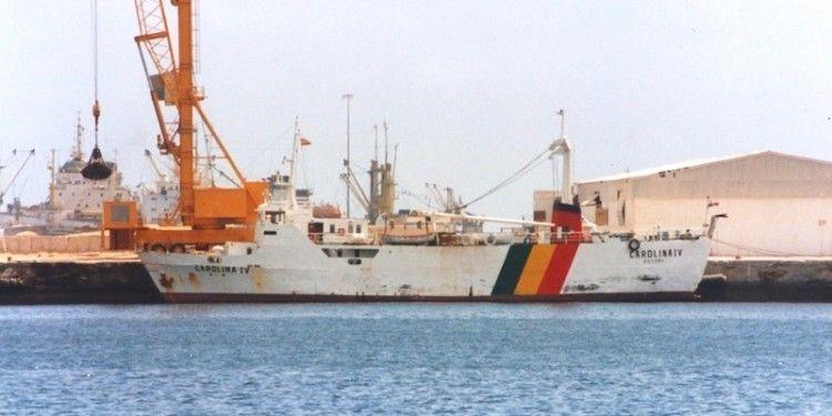 """En su etapa como """"Carolina IV"""", atracado en Las Palmas de Gran Canaria"""