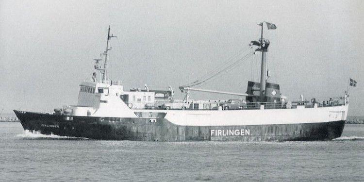 """En esta imagen del buque """"Firlingen"""" se aprecia la ubicación de la rampa original"""