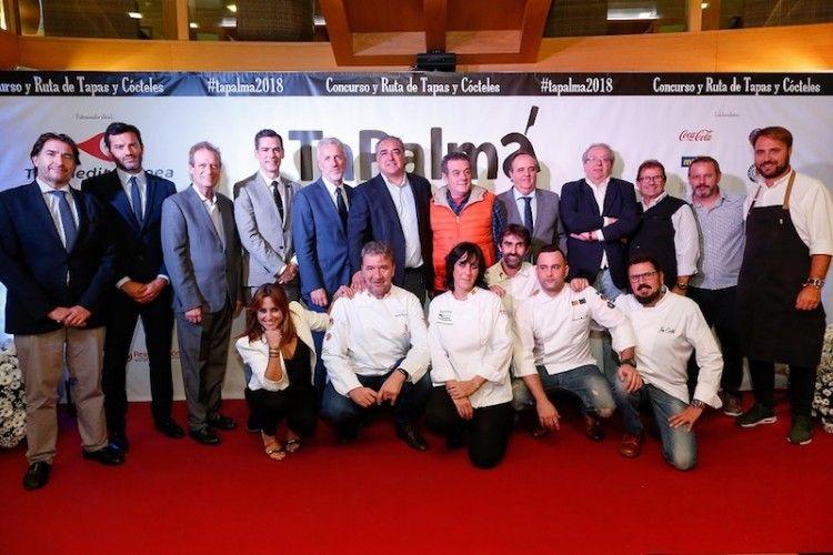 Foto de familia de la presentación de TaPalma 2018