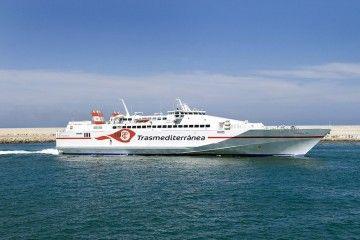 """El buque de alta velocidad """"Almudaina Dos"""" cubrió la línea Gandía-Ibiza-Palma"""