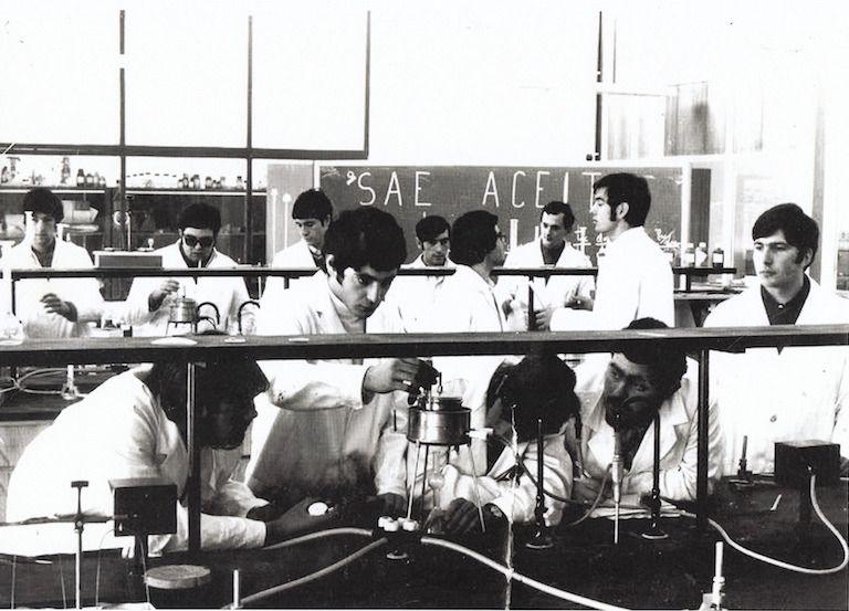 Grupo de alumnos en prácticas en la Universidad Laboral de La Coruña