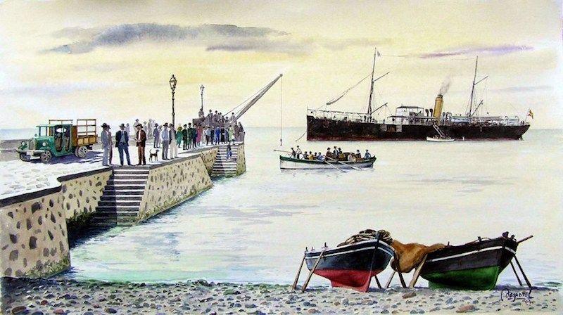 """Francisco Noguerol. """"La llegada del correo a Puerto Cabras"""""""