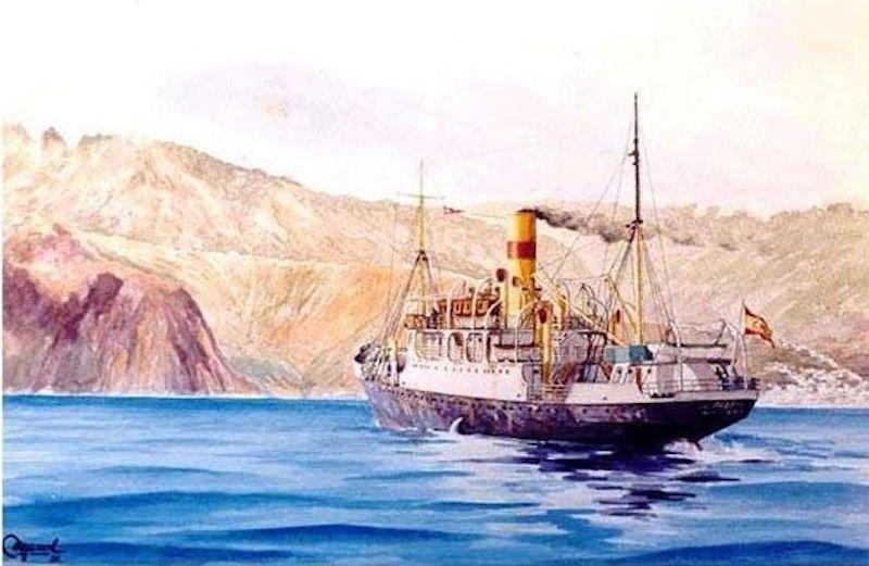 """Francisco Noguerol. """"Llegando a La Palma"""""""