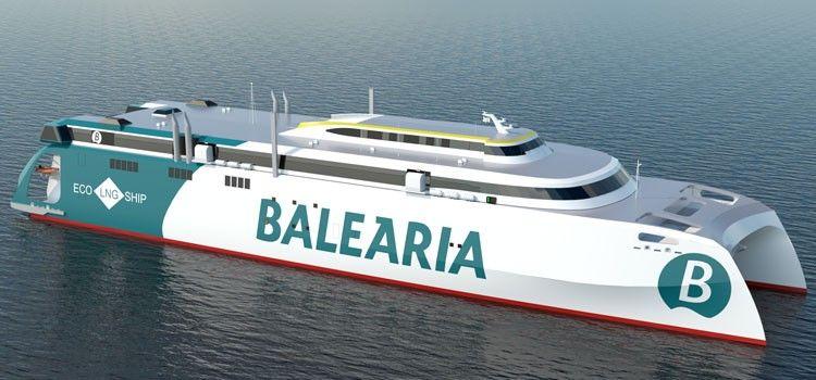 Este es el aspecto externo del futuro catamarán de Balearia