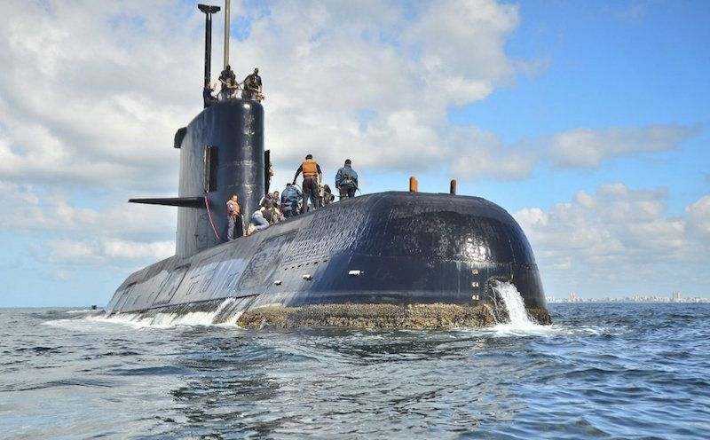 """El submarino ARA """"San Juan"""" ha sido localizado a 800 m de profundidad"""