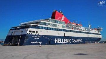 """El ferry """"Nissos Chíos"""" vuelve al servicio de Balearia en líneas españolas"""