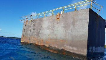 Otro trozo del dique flotante de Palumbo Tenerife aparece en aguas de Bahamas
