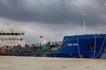 """El petrolero """"Blue Vega"""", ex """"Ronda"""", permanece  amarrado en Algeciras"""