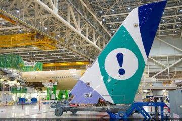 El logotipo de Evelop ya está pintado en la cola del primer A350 XWB