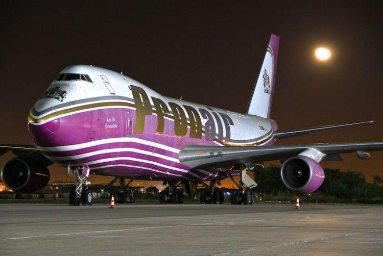 El avión B-747F de Pronair está abandonado desde 2010 en el aeropuerto de Valencia