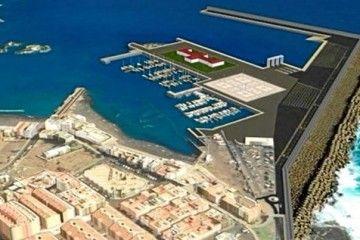 Montaje del proyecto de ampliación del puerto de Agaete