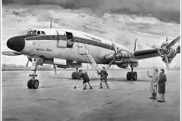 """De los diez aviones Lockheed Super Constellation que tuvo Iberia, el quinto recibió el nombre de """"Palos de Moguer"""""""