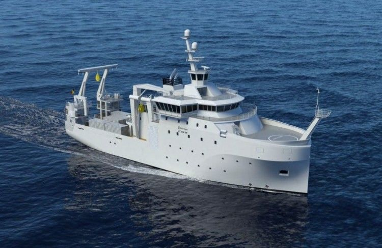 Este será el aspecto exterior del futuro buque oceanográfico para Bélgica