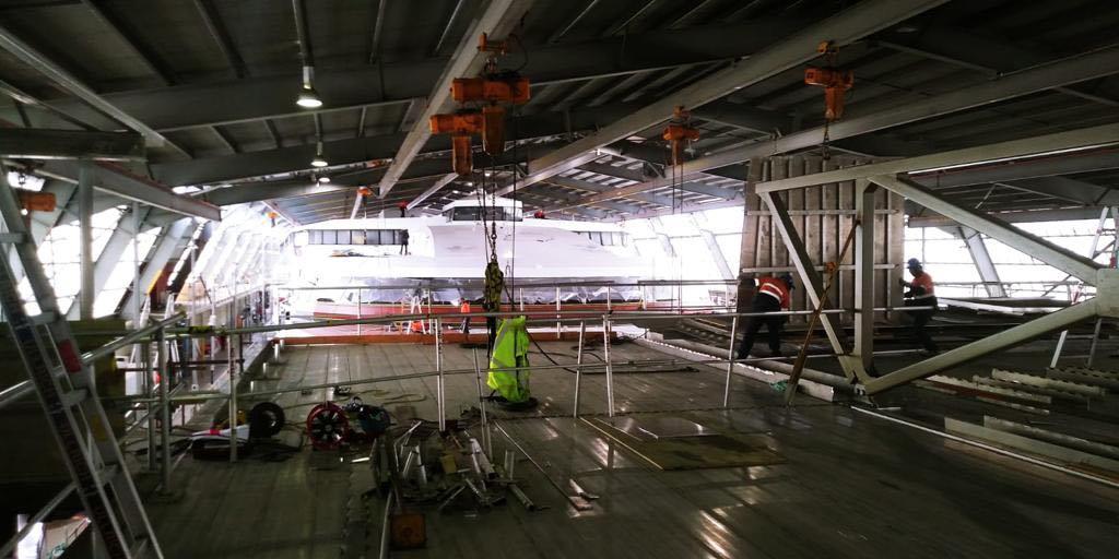 Obras en la cubierta superior de pasaje