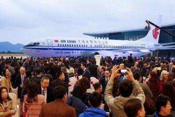 China celebra el primer avión B-737 Max terminado en el gigante asiático