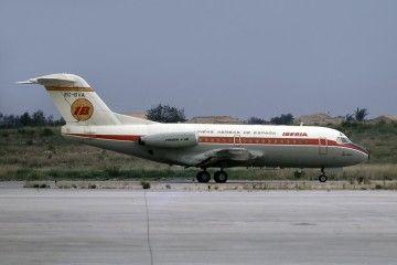 """Fokker F-28 Fellowship EC-BVA """"Río Arga"""", primero de los tres que tuvo Iberia"""