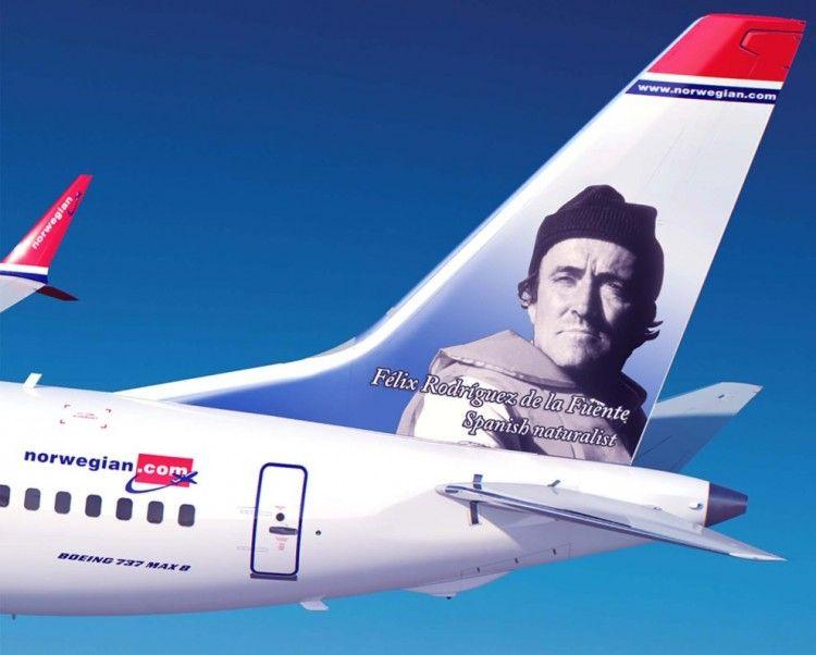 Dos aviones de Norwegian honran la memoria de Félix Rodríguez de la Fuente