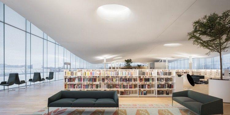 Oodi. Sala de lectura en la tercera planta