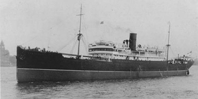 """Estampa marinera del """"liner"""" """"Castalia"""", en sus primeros años de mar"""