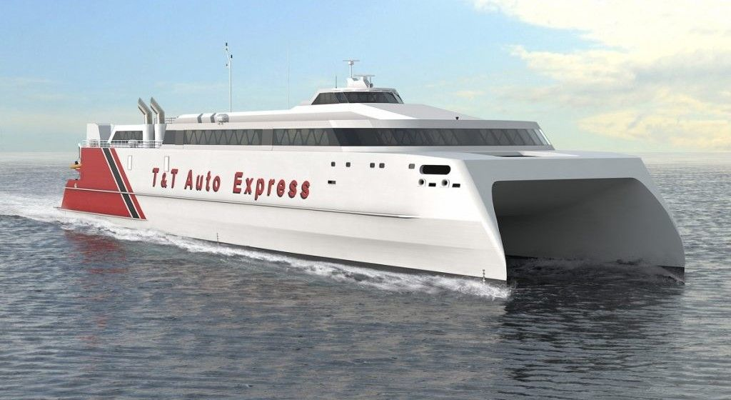 El futuro catamarán cubrirá una línea entre Trinidad y Tobago