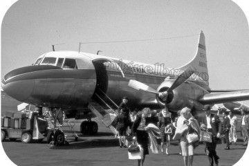 El grupo de turistas norteamericanos, a su llegada al aeropuerto de Los Rodeos