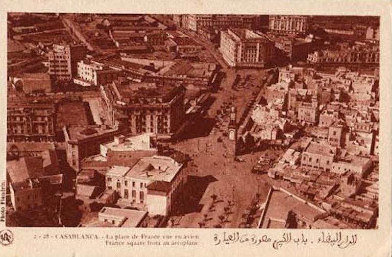 Panorámica del centro de la ciudad de Casablanca (c. 1918)