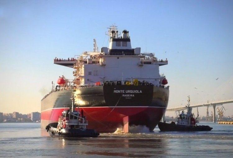 """El petrolero """"Monte Urquiola"""" es el tercero de la serie de Navantia Puerto Real"""
