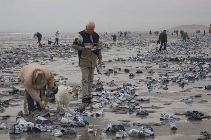 Cientos de miles de objetos han llegado a las costas de Holanda y Alemania