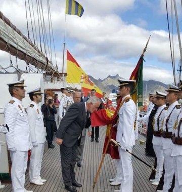 La Jura de Bandera se celebró en la toldilla del buque-escuela