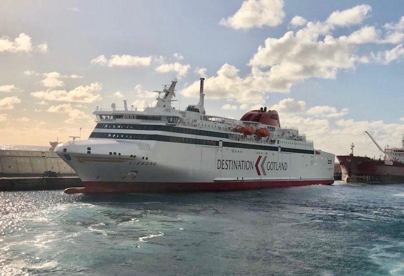 """El buque """"Visborg"""", atracado esta mañana en el puerto de Las Palmas de Gran Canaria"""