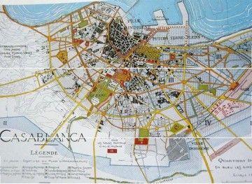 Plano de la ciudad de Casablanca, según la visión de Prost